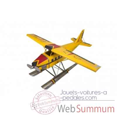 Avion hydroglisseur jaune gm Antic Line -SEB16128