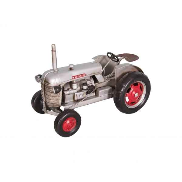 Tracteur couleur silver decoratif retro antic -SEB15356