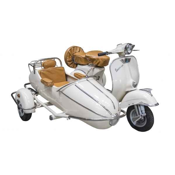 Vespa side car decoratif ivoire retro antic -SEB15256