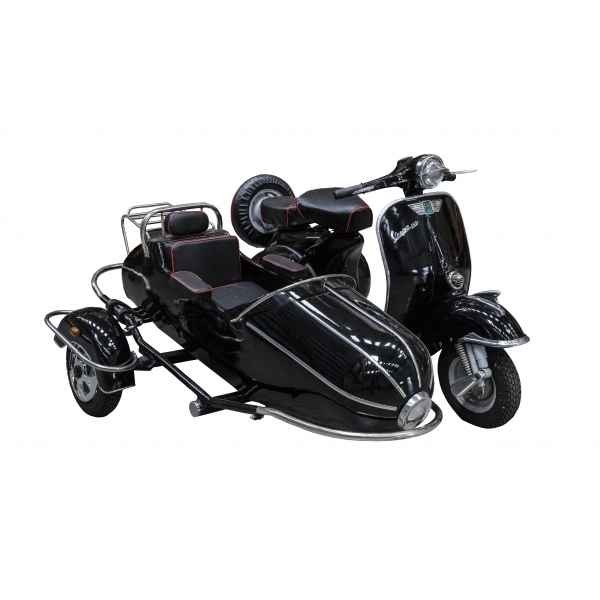 Vespa side car decoratif noir retro antic -SEB15257