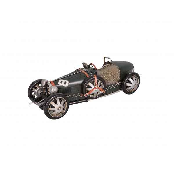 Voiture de sport verte decorative retro antic -SEB15352