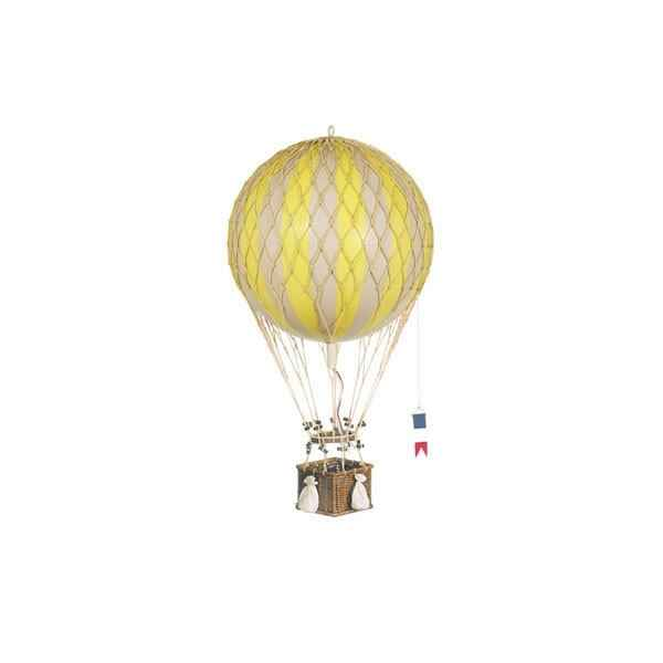 Video Replique Montgolfiere Ballon Jaune 32 cm -amfap163y