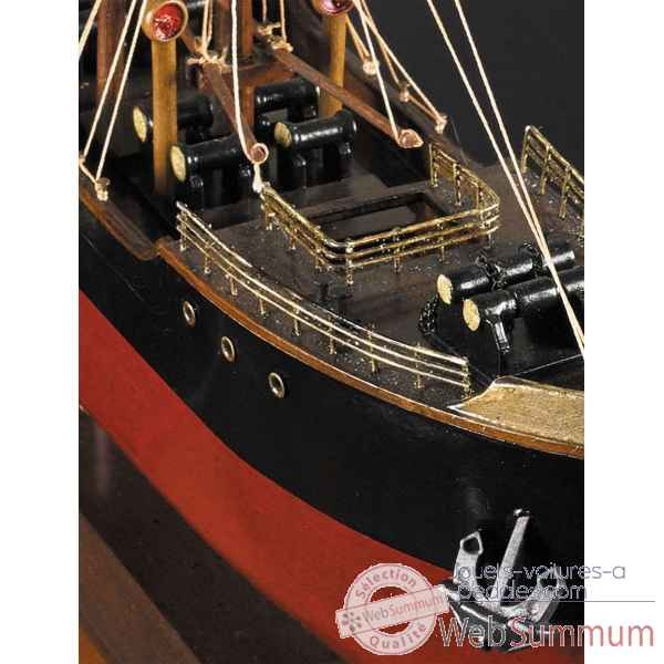 Demi-coque malacca Decoration Marine AMF -AS303