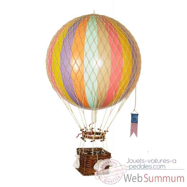 Replique Montgolfiere Ballon 32cm arc-en-ciel pastel Decoration AMF -AP163F