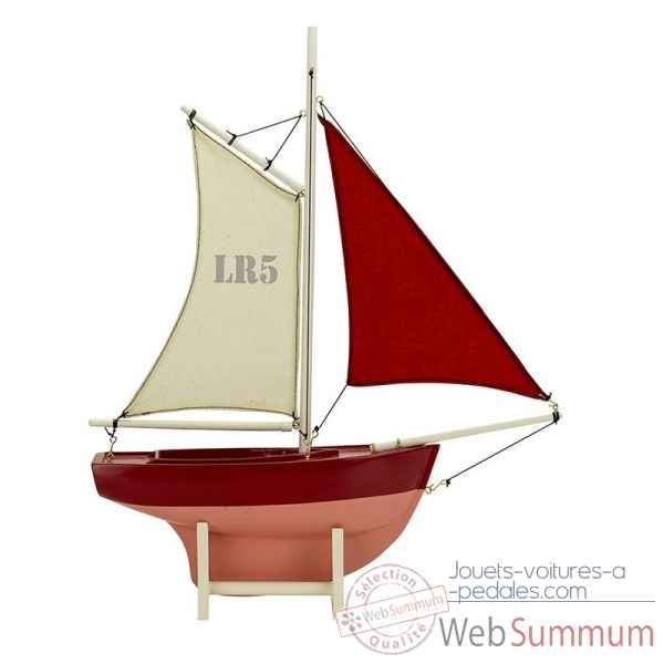 Voilier rouge, lr5 Decoration Marine AMF -AS187