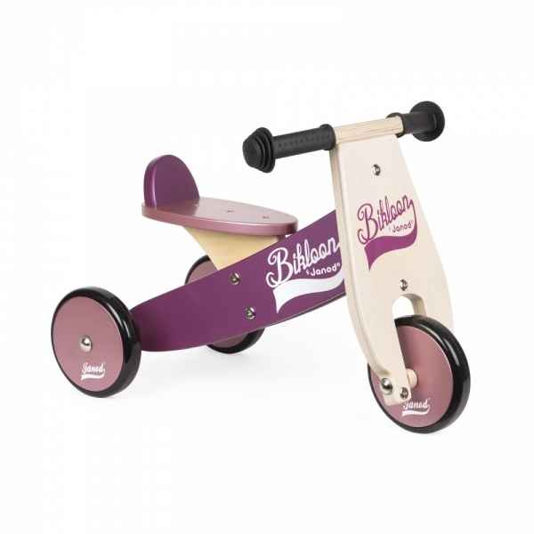 Porteur little bikloon violet et rose janod -j03260