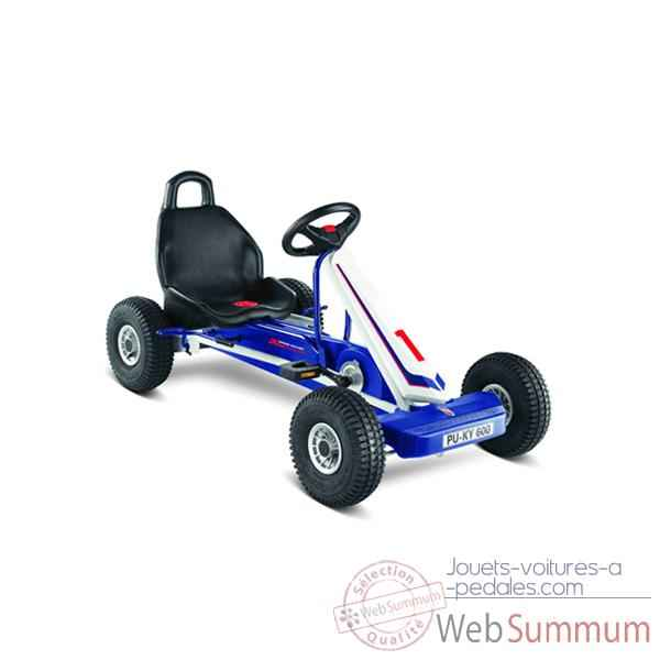 Video Karting a pedales Puky Blanc Bleu F 600L