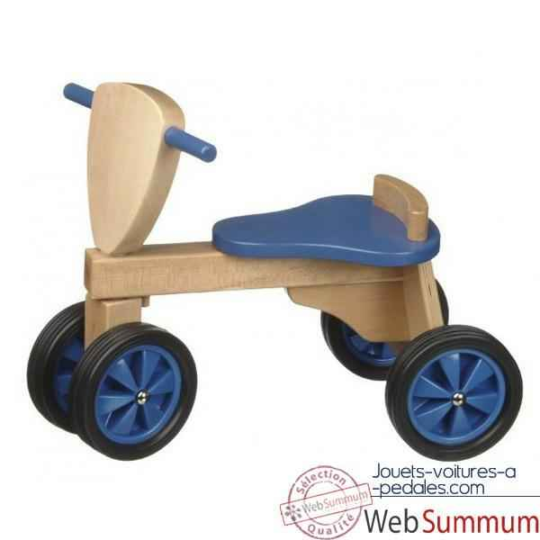 Tricycle- couleur bleu et naturel -1391