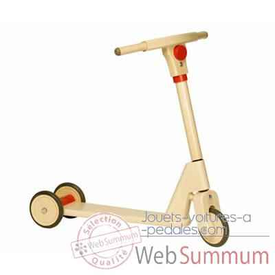 Video Trotinette Bois Jasper Toys rouge 3 roues