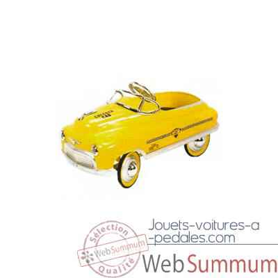 Video Voiture a pedales Comet jaune - 12613