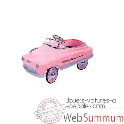 c93f208be7a1f Voiture a pedales Comet rose - 12610b