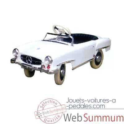 Voiture a pedales Mercedes blanc - 12659w