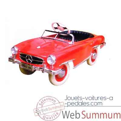 Video Voiture a pedales Mercedes rouge - 12659